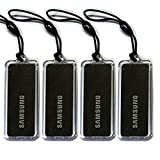 All Black 4pcs Genuine SAMSUNG EZON Digital Door Lock Key Tag Tags 13.56MHz RFID ISO14443 A Type for SHS-2320 SHS-2920 SHS-H620 SHS-H630 SHS-3120 SHS-3320 SHS-3420 (0+4B+0)