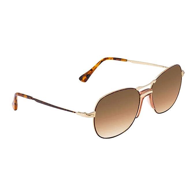 Persol 0PO2449S Gafas de sol, Aviador, 55, Havana Gold ...