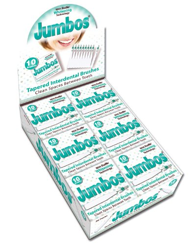 Staino Interdental Brush Jumbos, Large/Tapered (36 10-Brush Units   Total 360 Brushes)