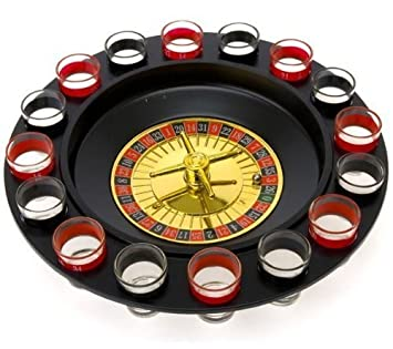 Shot Glass Roulette   Drinking Game Set (2 Balls And 16 Glasses)