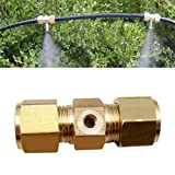Watering & Irrigation - Inch Brass Spraying Nozzle Type Connector Gardening Irrigation Accessories - Crop-Dusting Nose Direct Character Beak Done Case Snout Finished Typecast - 1PCs