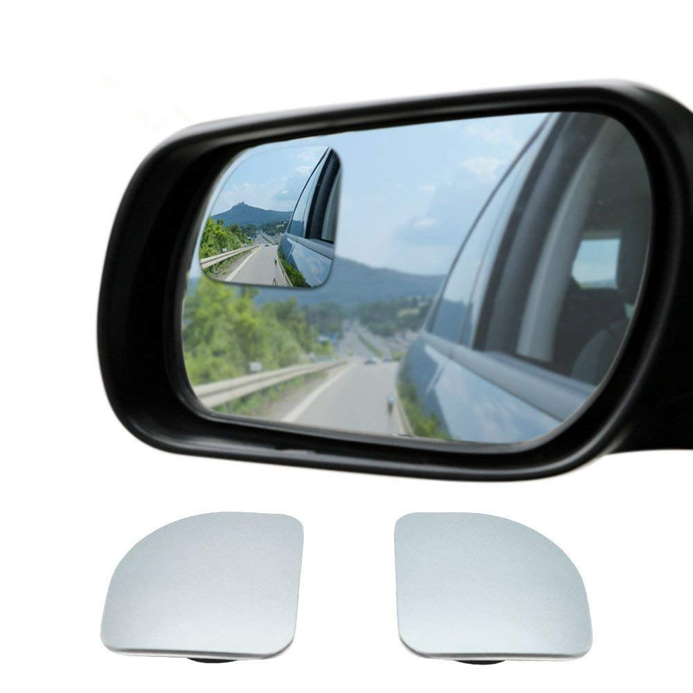 New HD Frameless Glass Stick-on 360° Rotating Adjustable for All Universal Vehicles Car to Increase Visibility & Improve Driving Safety (Sector)