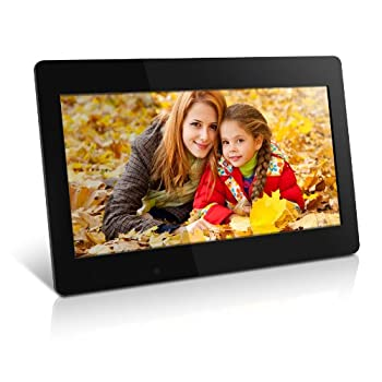 Image of Digital Picture Frames Aluratek (ADMPF118F) 18.5 Inch Digital Photo Frame - Black