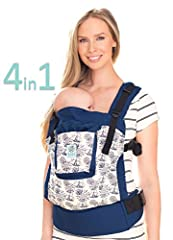 The LILLEbaby Essentials baby carrier combines the basics of babywearing with LILLEbaby's signature commitment to quality and style. This classically constructed 4-position carrier, made from our softest, most durable cotton, is the perfect a...