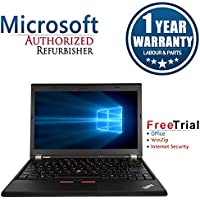 Lenovo ThinkPad X220 12.5 Laptop Computer(Intel Core i5-2520M 2.5G, 4G RAM DDR3,250G HDD,Windows 7 Professional)(Certified Refurbished)
