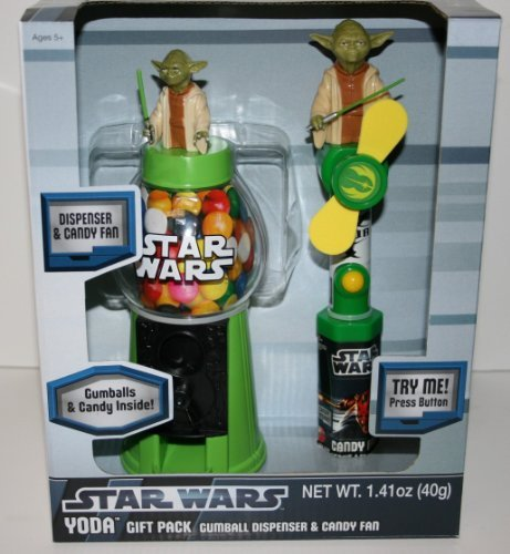 Star Wars Gumball Dispenser & M&Ms Candy Gift Pack (Darth Vader or Yoda) -