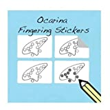 Ocarina Fingering Diagram and Tablature Stickers (250 Stickers Per Pack) 12 Hole Ocarina from Zelda Ocarina of Time!)