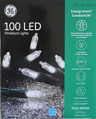 GE 100 LED Miniature Lights - Pure White ()