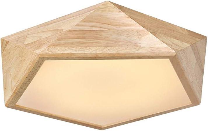 Trading 30W Escalera Interior Moderna Europea Araña de Madera Maciza Pasillo Simple Pasillo Entrada Luz de Techo Ático de Moda Estudio Decoración Lámpara de Techo (Color: luz cálida): Amazon.es: Hogar