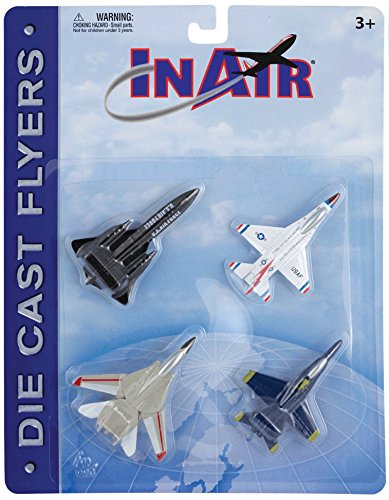 (InAir Die Cast Modern Jet Fighter 4 Piece Set)