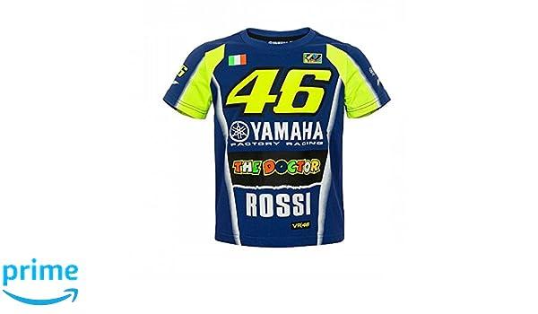 Amazon.com : Valentino Rossi VR46 Moto GP M1 Yamaha Racing Team Kids T-shirt Official 2018 : Sports & Outdoors