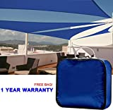 Cheap Quictent 18 x 18 x 18 ft 185G HDPE Triangle Sun Sail Shade Canopy UV Block Top Outdoor Cover Patio Garden Blue + Free Carry Bag