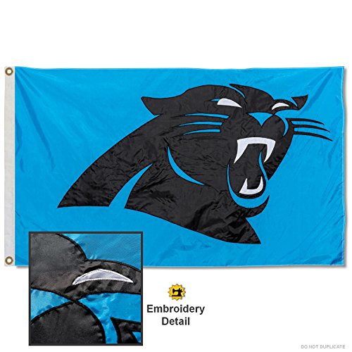 Carolina Panthers Embroidered Nylon (Carolina Panthers Applique Banner)