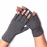 COLO Arthritis Gloves Compression Gloves for Rheumatoid & Osteoarthritis - Men & Women Hand Gloves Provide Arthritic Joint Pain Symptom Relief - Open Finger (S)