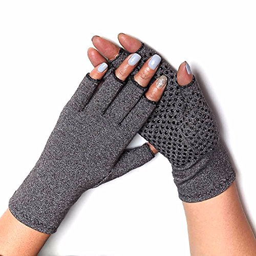 COLO Arthritis Gloves Compression Gloves for Rheumatoid & Osteoarthritis - Men & Women Hand Gloves Provide Arthritic Joint Pain Symptom Relief - Open Finger (S) by COLO