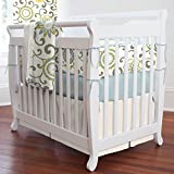 Carousel Designs Spa Pom Pon Play Mini Crib Bumper