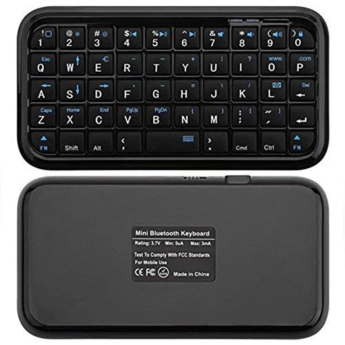 KingFurt Black Mini Bluetooth Wireless Keyboard for iPhone 4, iPad, iPaq, PDA, MAC, OS, PS3, Droid, Smart Phones, PC, Computers