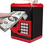 CBTONE Cartoon Password Piggy Bank, Electronic Money Bank, Coin Cash Can, Mini ATM Box for Kids Children - Great for Toy Gifts Birthday Gift (Black)