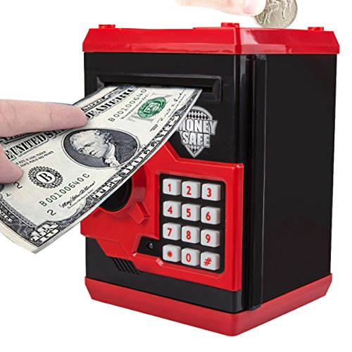 CBTONE Cartoon Password Piggy Bank, Electronic Money Bank, Coin Cash Can, Mini ATM Box for Kids Children - Great for Toy Gifts Birthday Gift ()
