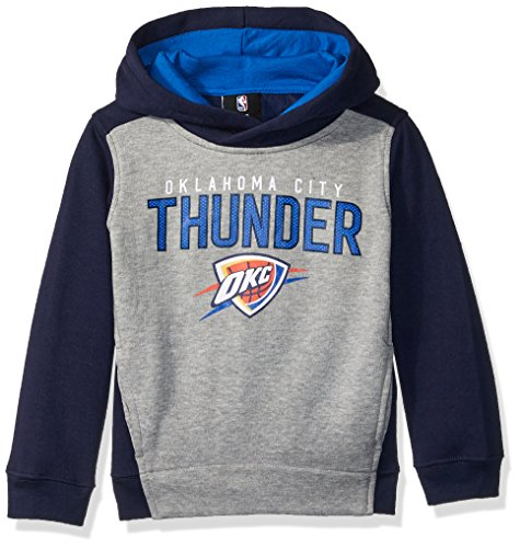 Oklahoma Pullover (OuterStuff NBA Kids & Youth Boys Fadeaway Pullover Hoodie Oklahoma City Thunder-Grey Heather-XL(18))