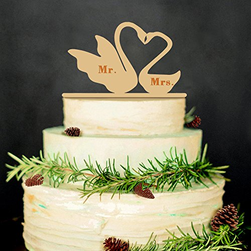 2B-better Swan Mr & Mrs Wedding Cake Topper Wedding&Anniversary Cake Decorations