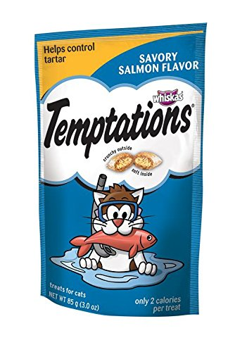 Whiskas Temptations Savoury Salmon Flavour Treats for Cats,