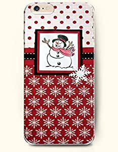 OOFIT Apple iPhone 6 case 4.7 inches - Winter Greetings Happy Snowman And Snowflake
