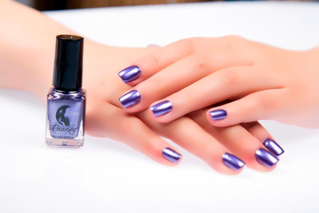 Bonjouree Vernis à Ongles de Miroir Effet Couleur De Métal # Violet