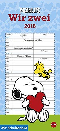 Peanuts Agenda para dos - Calendario 2018 - HEYE de familia ...