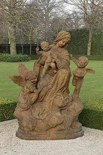 pompidu-living Maria con Ángeles,Figuras Piedra,Figura de Jardín - Terracota: Amazon.es: Jardín