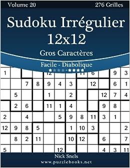 Sudoku Irregulier 12x12 Gros Caracteres Facile A
