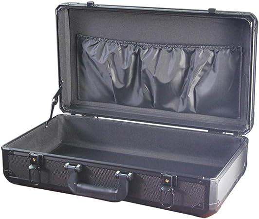YANGQI Caja de Aluminio Maletero Resistente al Agua Estuche Rígido de Aluminio Maletín Toolbox Estuche Portátil Estuche Portátil para Herramientas Negro: Amazon.es: Hogar