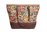 Clearance Christmas Sale Mike & Mary Floral Printed Multicolor Shoulder Shopping Tote Handbag Summer Beach Tote