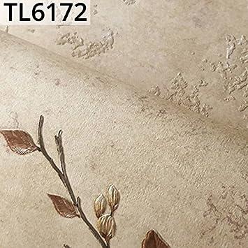 Beige Color 3D Rustic Floral Embossed Wallpaper Plain Flower Pattern Wall Coverings For Bedroom Living Room