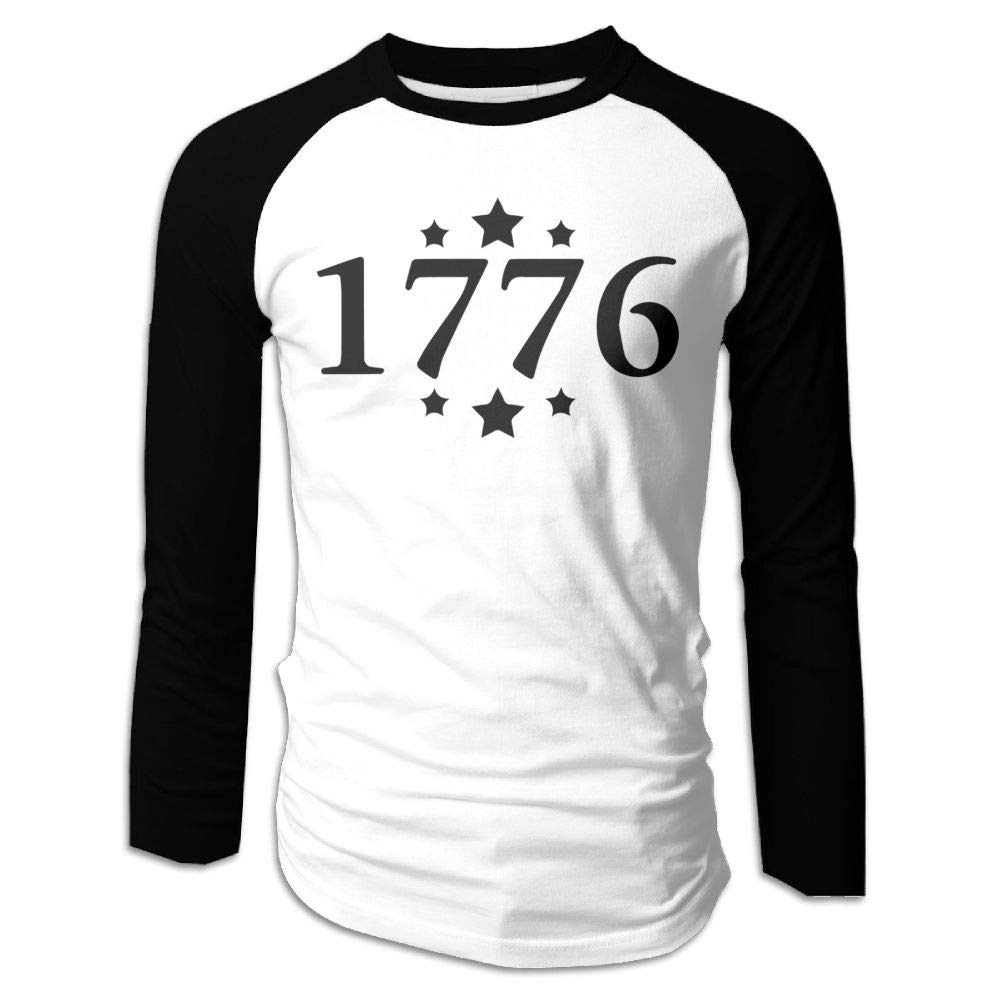 Reppusily Man 1776 Patriotic 4th of July USA Classic Travel Long Sleeve T-Shirt