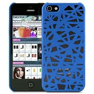 Katinkas Mesh - Carcasa rígida para iPhone 5, color azul