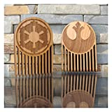Galactic Empire & Rebel Alliance Wood Beard Comb Set