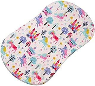 product image for SheetWorld Fitted 100% Cotton Percale Bassinet Sheet Fits Halo Bassinet Swivel Sleeper 17 x 30, Unicorns, Made in USA