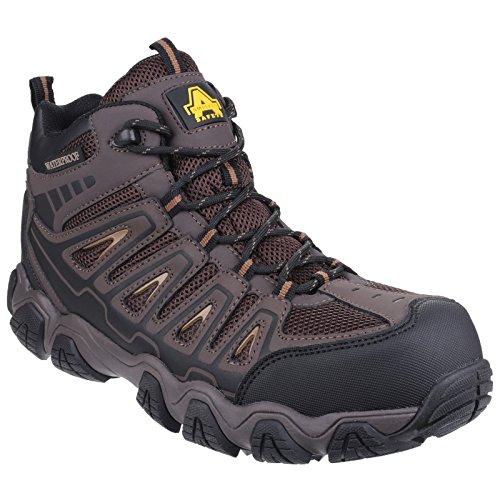 Amblers Safety - AS801 Rockingham- Scarpe impermeabile non metalliche - Uomo Marrone