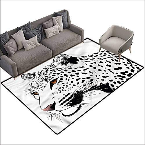 Floor Mats for Living Room Tattoo,Leopard Big Cat Spots 60