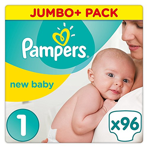 Pampers Premium Protection New Baby Size 1, 96 Jumbo Pack by Pampers