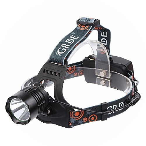 5 Modes LED Flashlight , Hands-free Headlamp Headlight , Waterproof Head Lamp Light, for Camping Hiking Fishing Hunting Morning Running Night Walking BBQ , Also as Power Bank