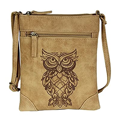 Mini Boho Indie Crossbody Bag – Vegan Leather Suede Festival Handbag