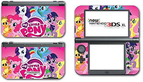 My Little Pony Friendship is Magic MLP Pinkie Pie Rarity Rainbow Dash Twilight Sparkle Applejack Video Game Vinyl Decal Skin Sticker Cover for the New Nintendo 3DS XL LL 2015 System Console