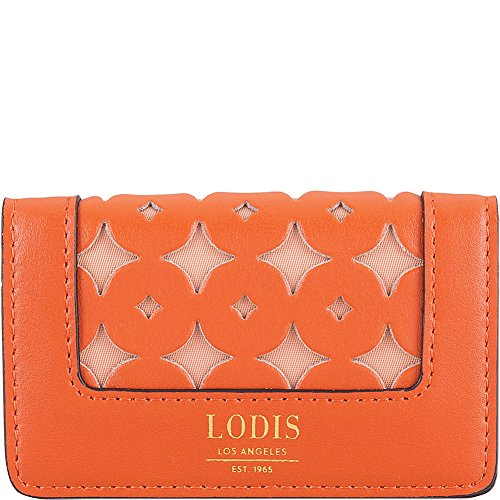 Lodis Accessories Women's Laguna Perf RFID Mini Card Case Papaya One Size