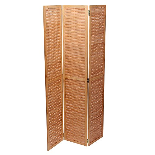 Household Essentials Bamboo Screen, Basket Weave