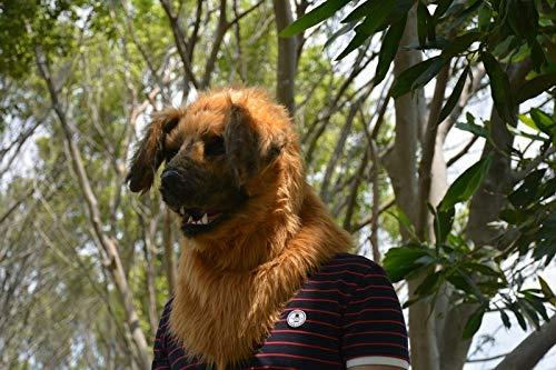 BAIJIAXIUSHANG-MASK Party Fun Maske Tiermaske Heißer Handgemachte Halloween Simulation gelb Hund Maske Hohe Qualität Moving Mouth Tier Kopfmaske Größelige Tiermaske (Farbe   schwarz, Größe   25  25) Gelb 2525