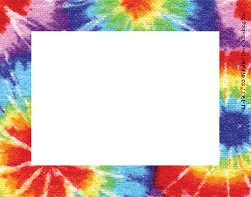 Barker Creek Tags/Self-Adhesive Labels, Tie-Dye Name (LL-1503) Barker Name Tags