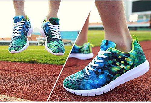 Hardloopschoenen Heren & Dames Kleurrijke Sneakers Voor Damesmode Door Jiye Green