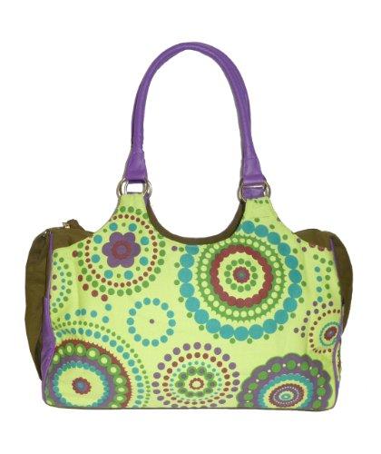 Sunsa Damen Handtasche Schultertasche Bowlingtasche 42x29x13cm